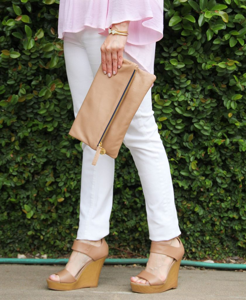 Seychelles Nude Wedges with 3 straps
