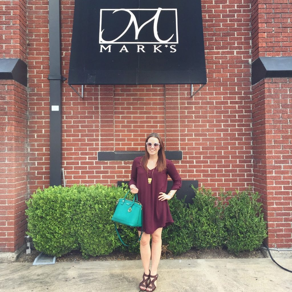 Date Night Outfit - maroon dress