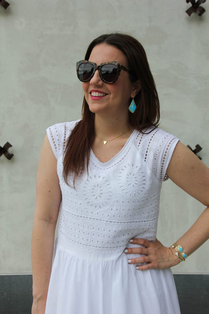 eyelet white dress for summer