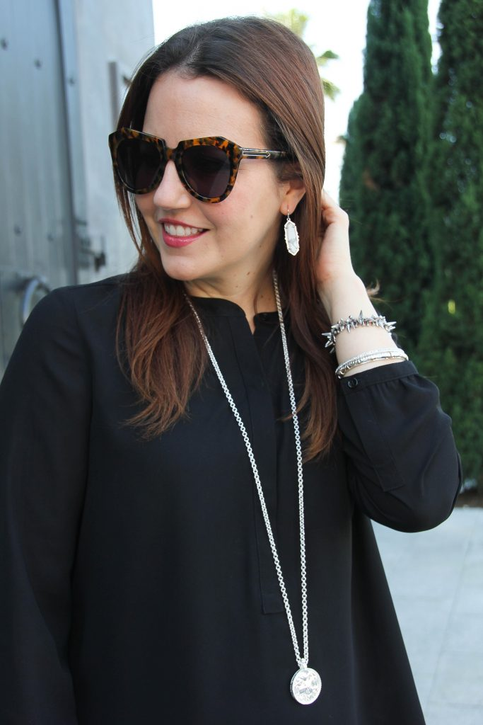 kendra scott earrings with julie vos coin pendant necklace