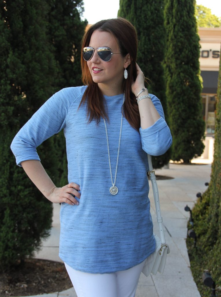 long blue tunic / spring fashion