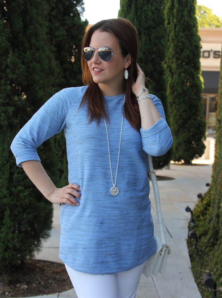 long blue tunic / spring fashion