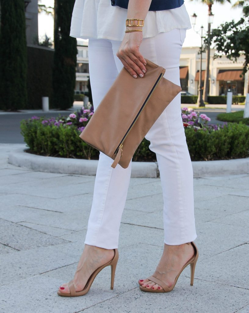 steve madden stecy heels and paige white denim