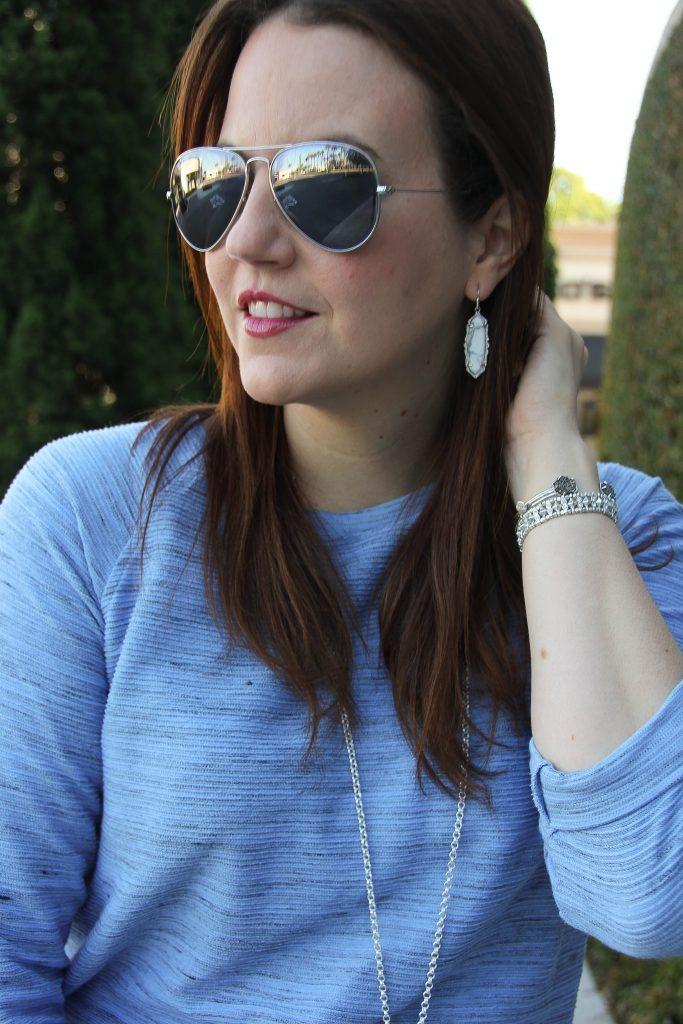 kendra scott marble earrings / silver jewelry