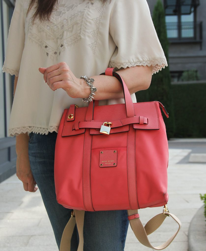 henri bendel mini jetsetter bag in pink