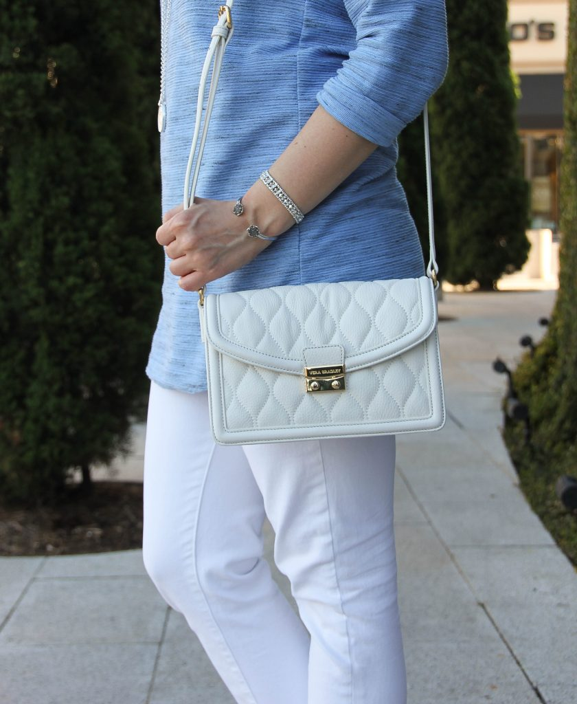 white quilted leather bag - cute for summer