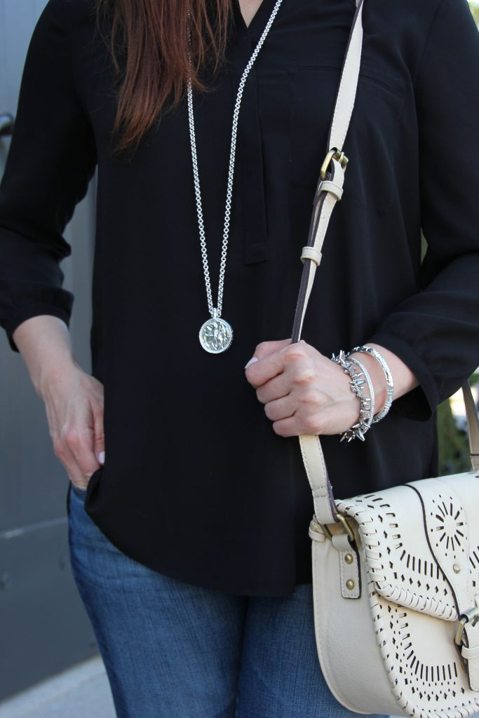 julie vos coin pendant and sole society kianna bag