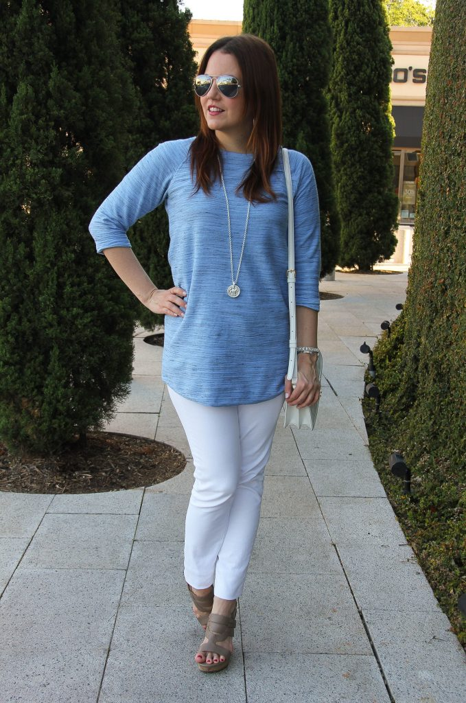 fashion blogger outfit - tunic and jeans