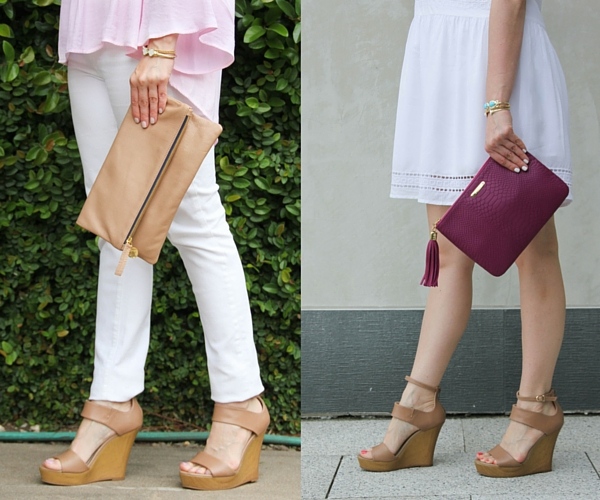 review of nude wedge sandal