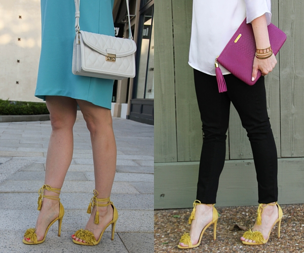 review of yellow fringe sandals