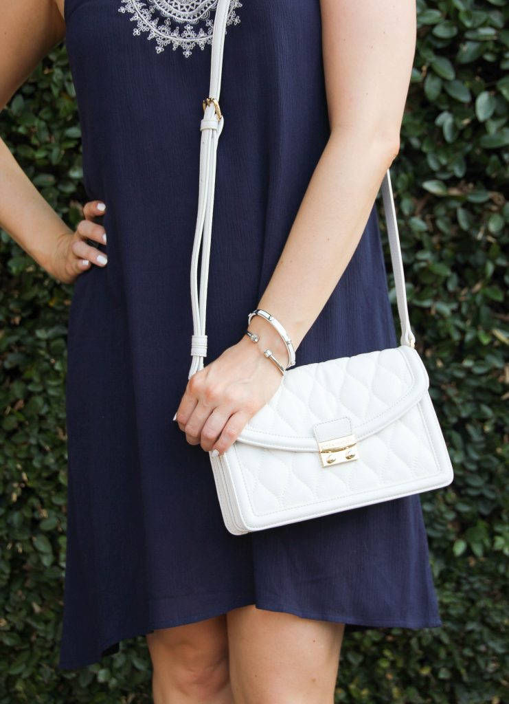 White Quilted Leather crossbody bag - perfect for spring and summer!