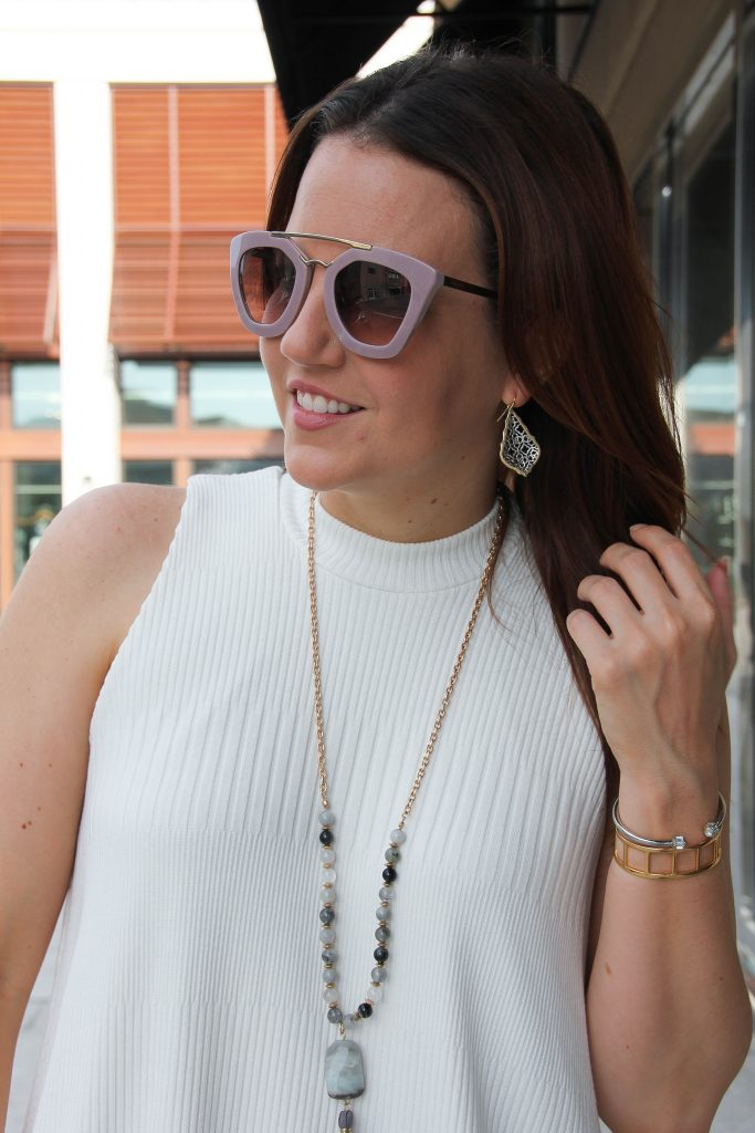 prada sunglasses and mixing jewelry metals