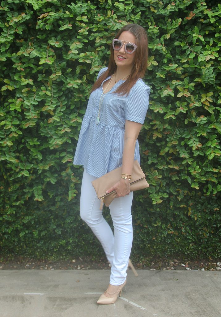 what to wear with white jeans in summer fashion