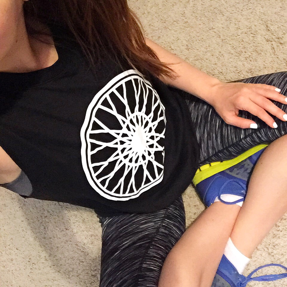 Spin class workout clothes