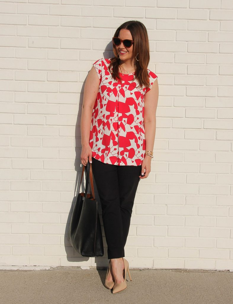 Summer Work Outfit Skinny pants and tunic