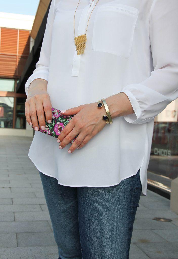 beautiful pendant necklace and purple cuff bracelet