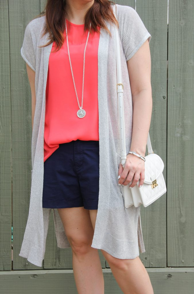 cute summer outfit idea with shorts