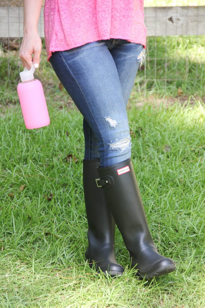 what to wear in the country - rain boots