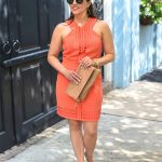 What I Wore TBSCon: Orange Cocktail Dress