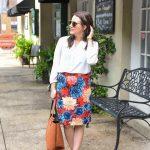 Work Wear: Floral Pencil Skirt