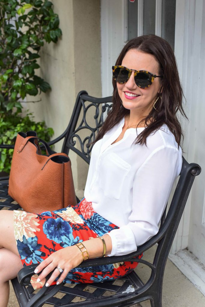 what to wear to work with a white blouse