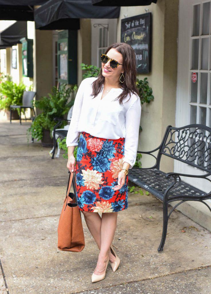 talbots dahlia skirt styled for work