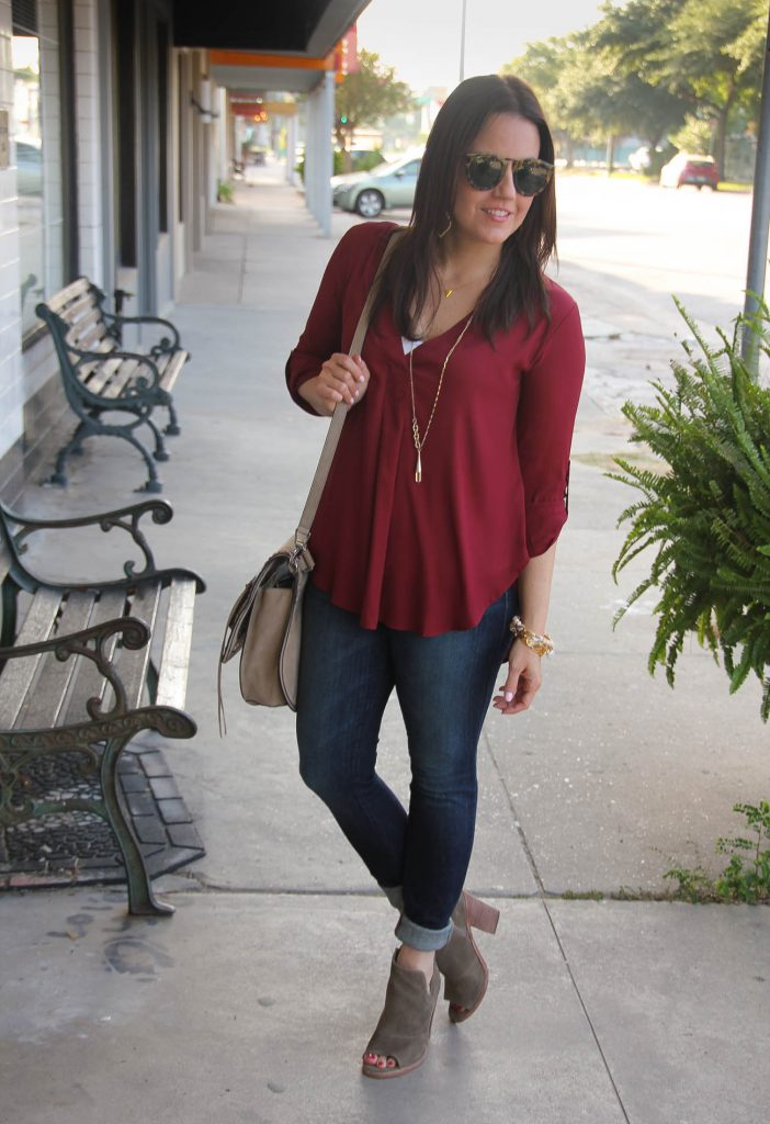 fall street style outfit ideas jeans and booties