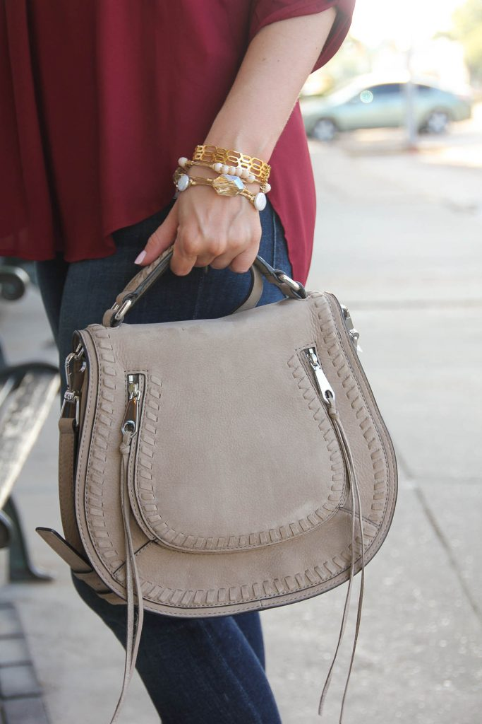 taupe suede saddle bag - chloe bag dupe