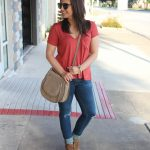 Orange Casual Tee and Jeans