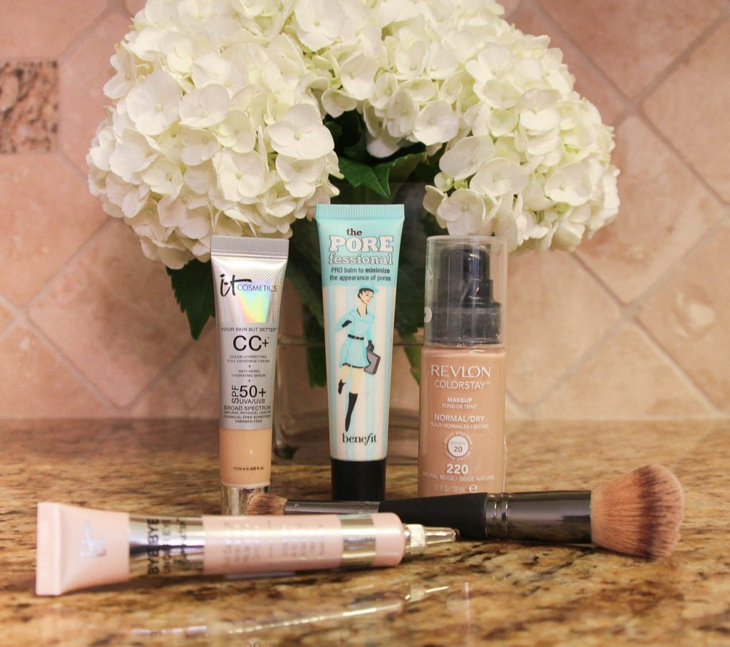 LadyinViolet shares an everday makeup routine featuring the best drugstore foundation and the It Cosmetics CC Cream.