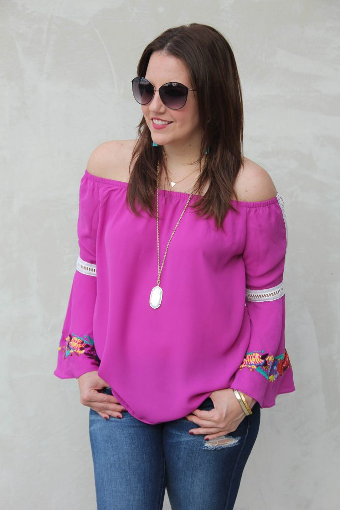 LadyinViolet talks about the fall trends bell sleeve tops and off the shoulder blouses.