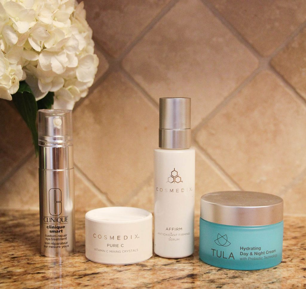 Morning Skincare Routine to fight fine lines and wrinkles and help with face redness