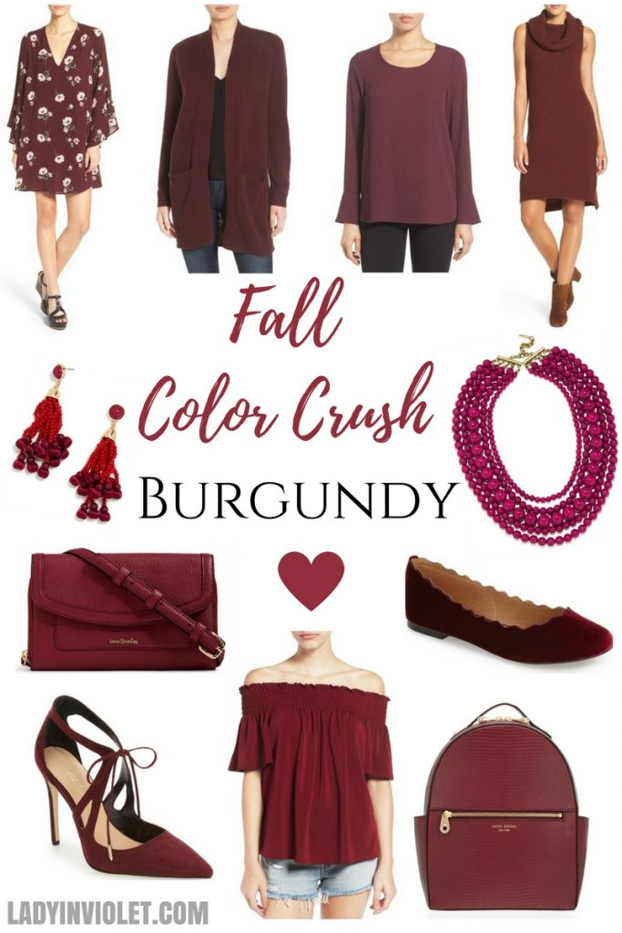 fall color trends burgundy clothing