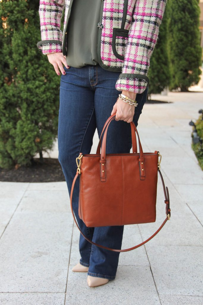 LadyinViolet carries the Vera Bradley Sagebrush Satchel in Brown. Perfect Purse for fall!