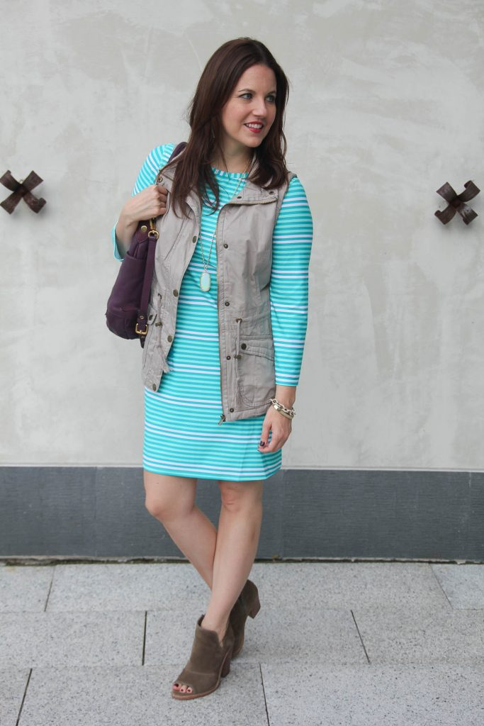 Lady in Violet shares fall outfit ideas including what to wear with utility vest.