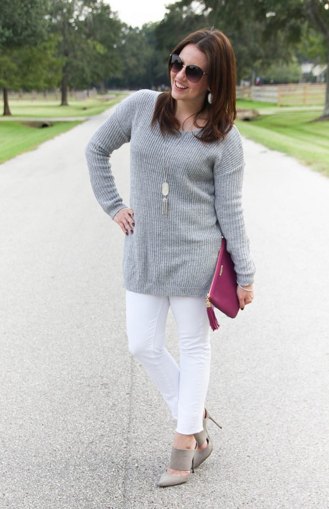 Texas Style Blogger wears a dress casual weekend outfit for fall and winter.