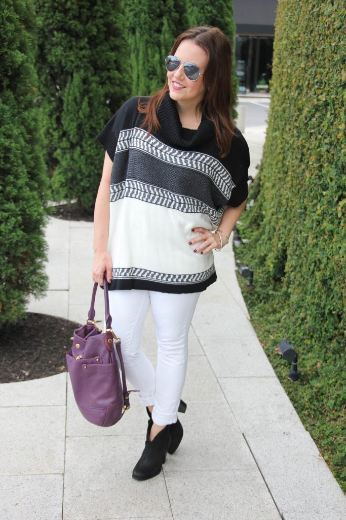 Houston fashion blogger shares tips for wearing white jeans in fall season.
