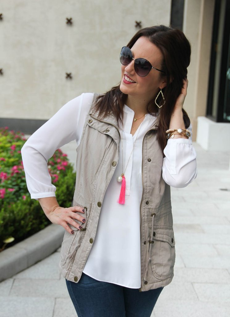 LadyinViolet shares tips on how to wear a utility vest in fall.