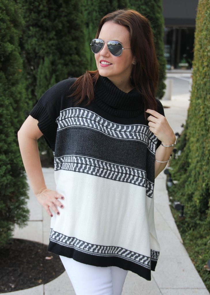 old navy black and white oversized sweater under 50 dollars.