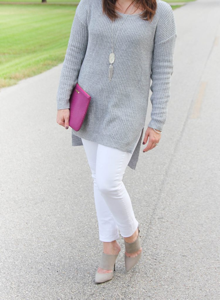 Texas Fashion Blogger styles a cute fall and winter outfit with an oversized sweater.