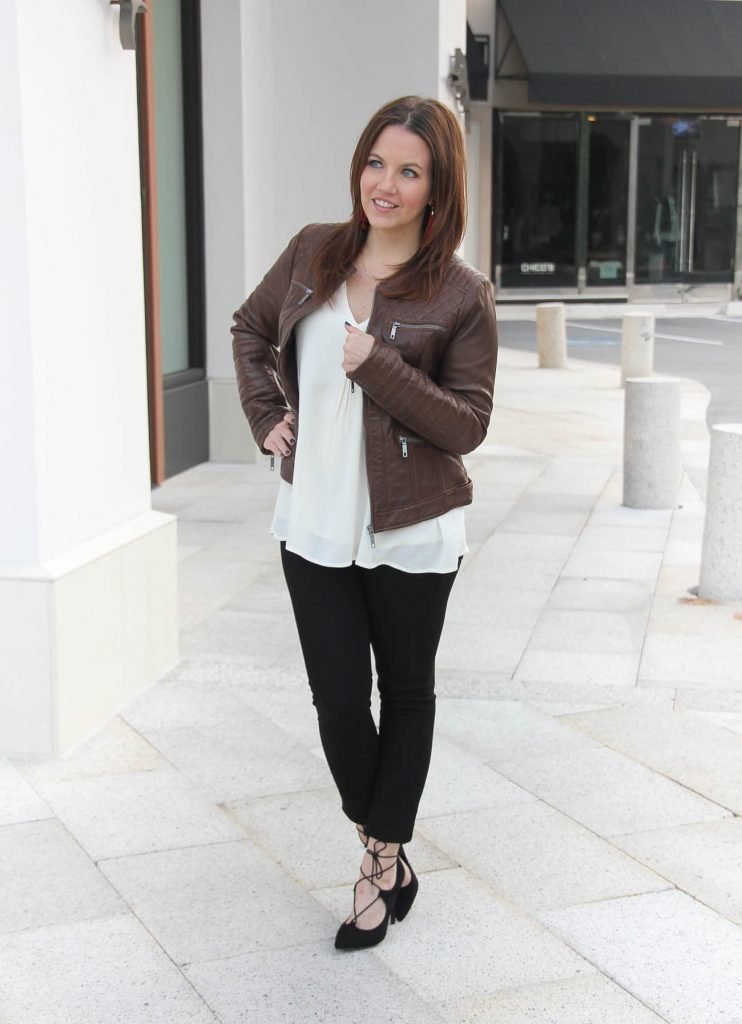 Houston Fashion Blogger wears a fall outfit idea perfect for happy hour.