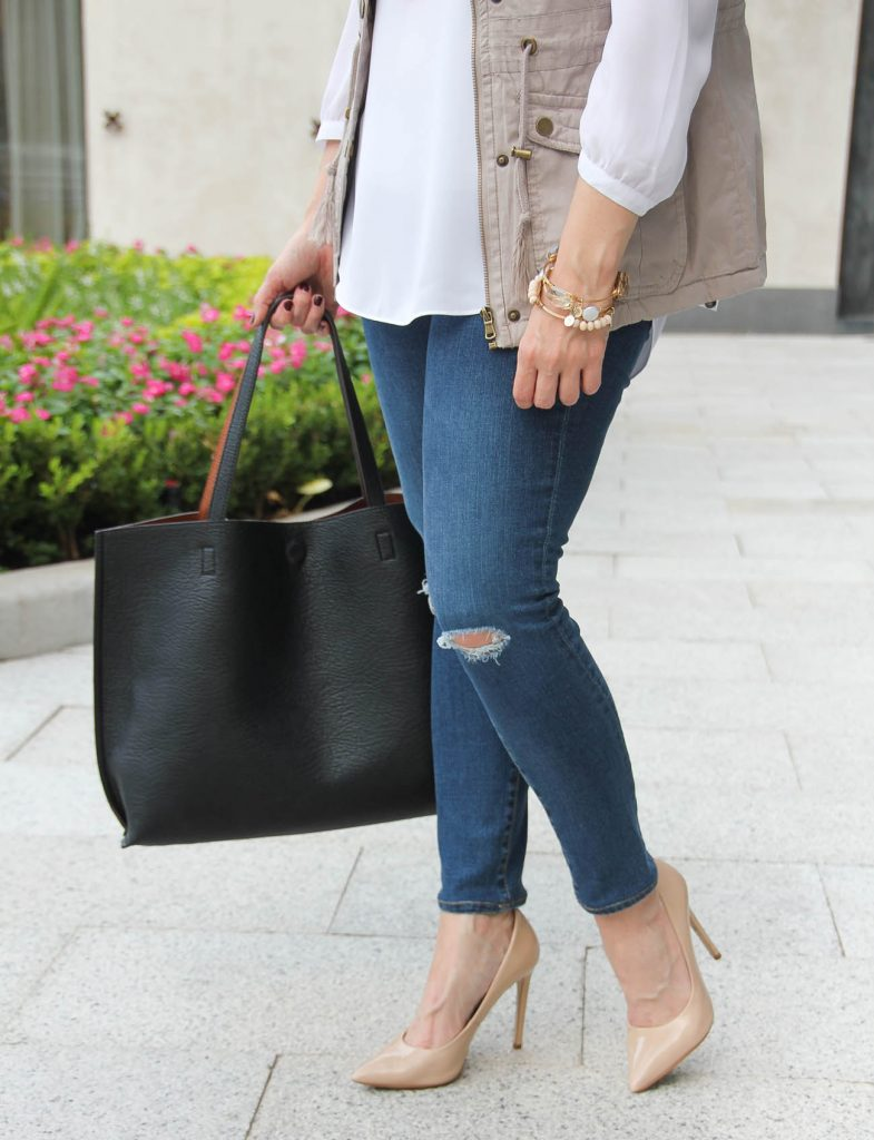 tips on how to wear skinny jeans with heels