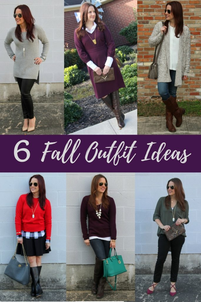LadyinViolet shares six fall outfit ideas.