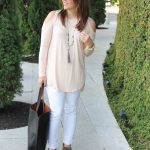 Cold Shoulder Top + Blush for Fall