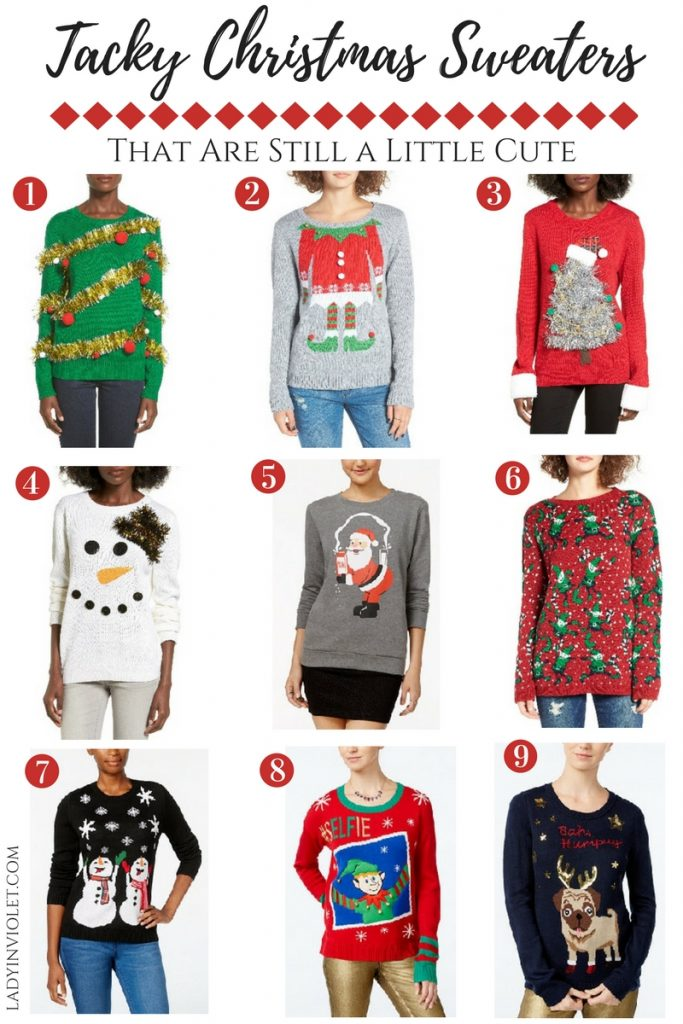 Christmas Sweaters Cute.Cute Ugly Christmas Sweaters Lady In Violetlady In Violet