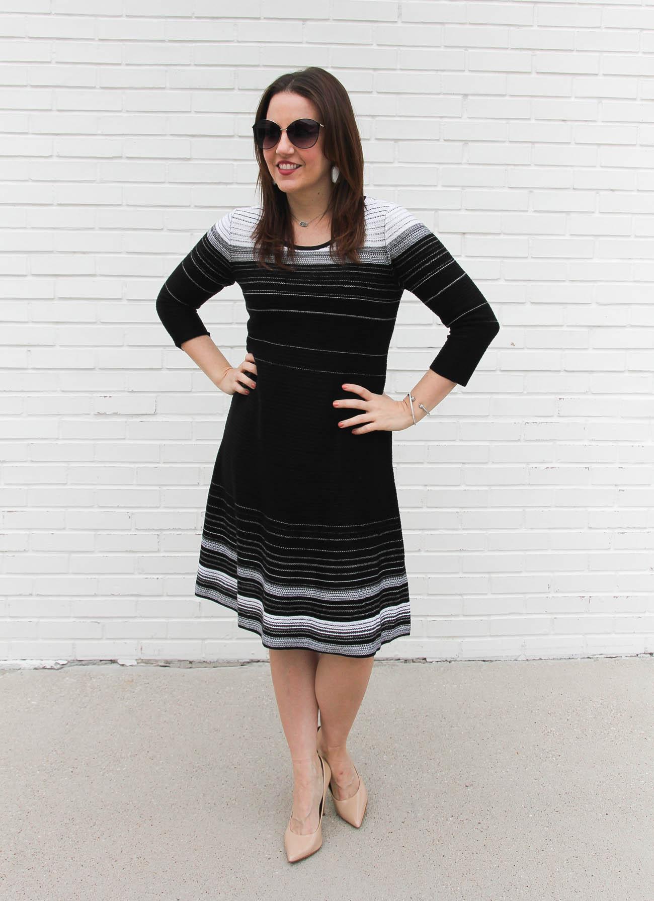 Striped Sweater Dress Lady In Violetlady In Violet