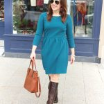Teal Fit and Flare Dress