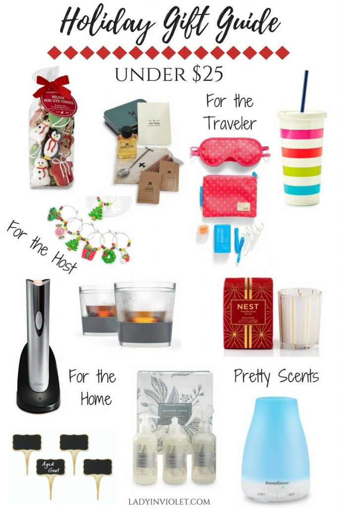 Houston blogger, Lady in Violet shares Christmas gift ideas under 25 dollars.