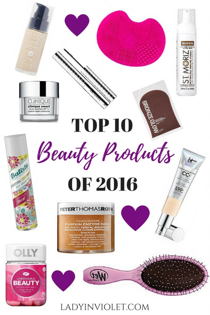 Houston Blogger, Lady in Violet shares her top ten beauty products of 2016 incuding it cosmetics, peter thom roth, olly, batiste, revlon and more.