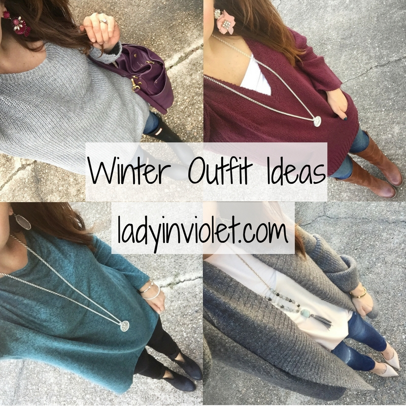 Houston blogger shares winter outfit ideas featuring sweaters, boots, and jeans.
